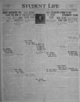 Student Life, September 29, 1926, Vol. 25, No. 1
