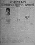 Student Life, November 5, 1926, Vol. 25, No. 6
