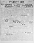 Student Life, October 3, 1930, Vol. 29, No. 1