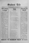 Student Life, February 19, 1915, Vol. 13, No. 20