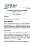 What Are Deductible Business Expenses? by Dennis Kauppila