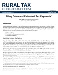 Filing Dates and Estimated Tax Payments by Gary Hoff