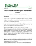 Like-Kind Exchange (Trade) of Business Assets