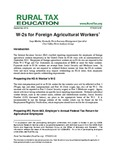 W-2s for Foreign Agricultural Workers by Suzy Martin