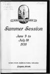 General Catalogue 1930 Summer