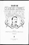 Diary of Charles Lowell Walker