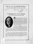 The U.A.C. Alumni Quarterly, Vol. 4 No. 2, March 1928
