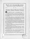 The U.A.C. Alumni Quarterly, Vol. 4 No. 3, May 1928