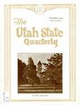 The Utah State Quarterly, Vol. 6 No. 2, November 1929