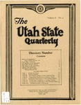 The Utah State Quarterly, Vol. 6 No. 4, May 1930