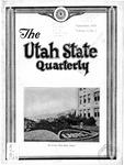 The Utah State Quarterly, Vol. 7 No. 1, September 1930