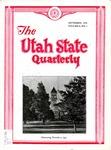 The Utah State Quarterly, Vol. 9 No. 1, September 1932